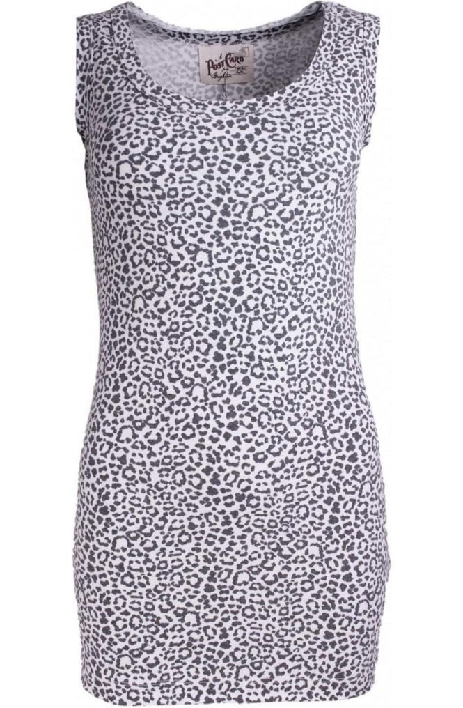 A Postcard from Brighton Madison Leopard Print Vest Top