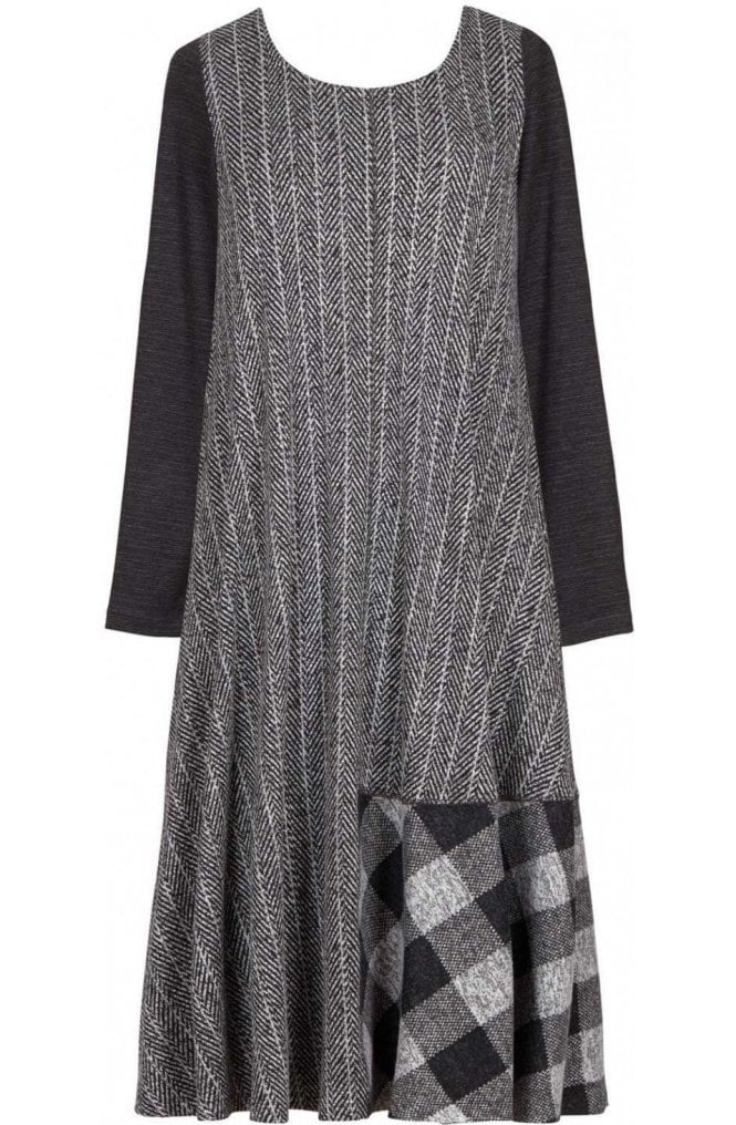 Alembika Contrasting Patterned Patch Dress