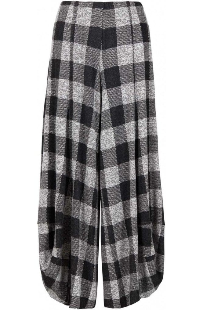 Alembika Grey Wide Leg Check Culottes