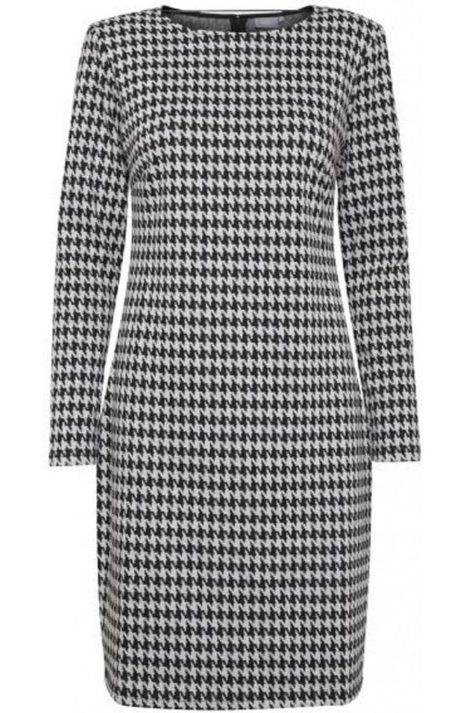 b.young Hounds Tooth Fitted Dress