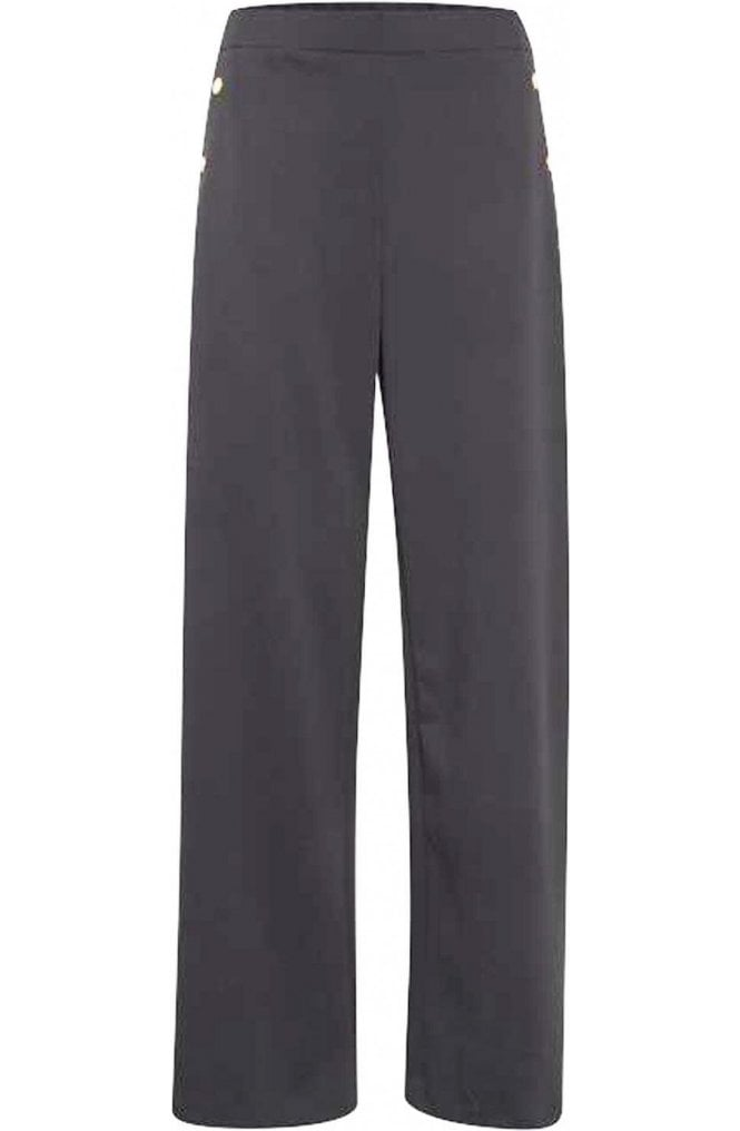 b.young Black Wide Leg Trousers