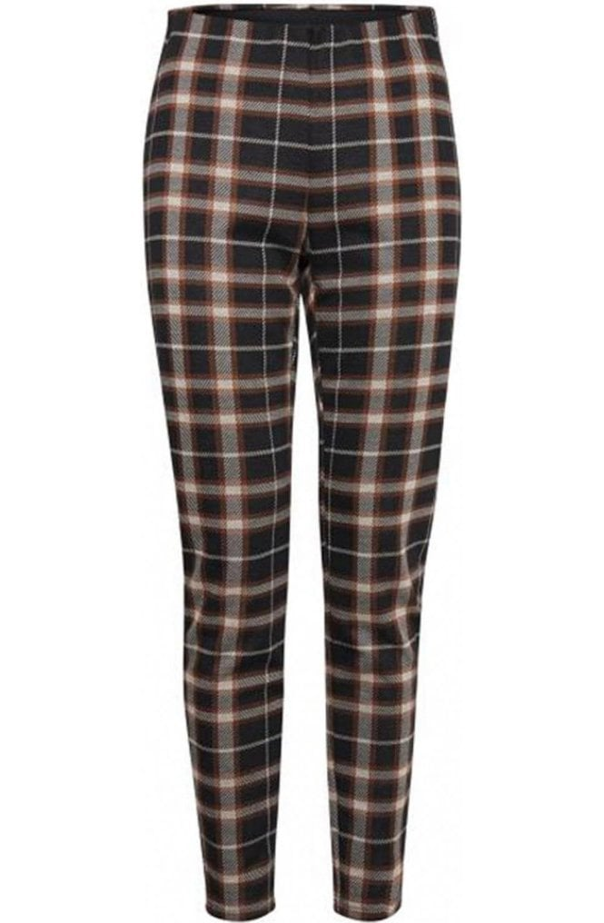 b.young Check Print Trousers