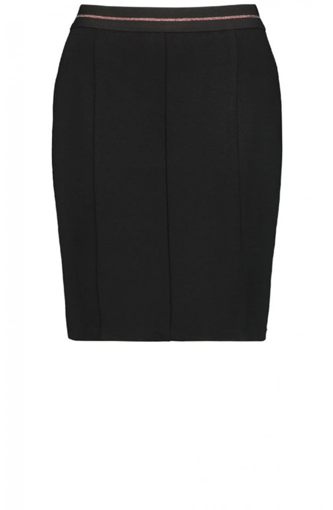 Taifun Black Fitted Jersey Skirt