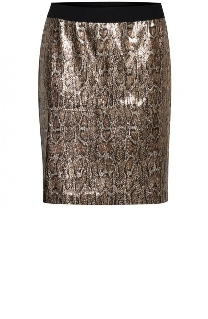 b.young Sequin Snake Skin Skirt