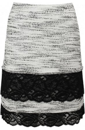 Textured Lace Detailed Skirt