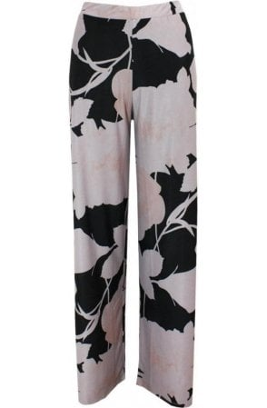 Wide Leg Patterned Trousers