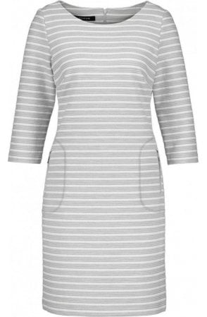 Grey & White Striped Dress