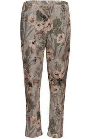 Wide Leg Floral Trousers