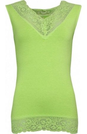 Lime Green Lace Detailed Top