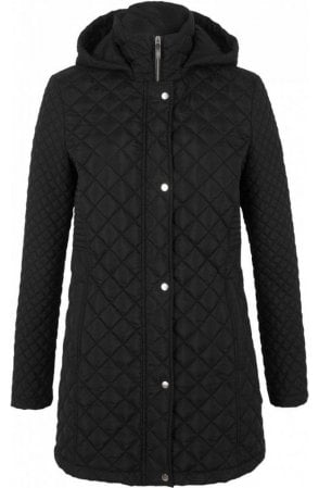 Black Diamond Quilted Coat
