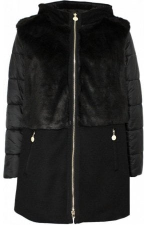 Affabile Faux Fur Panel Coat