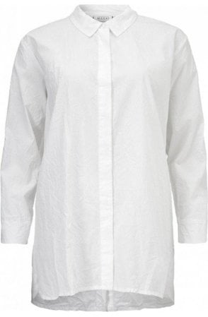 Indissa White Crinkle Blouse