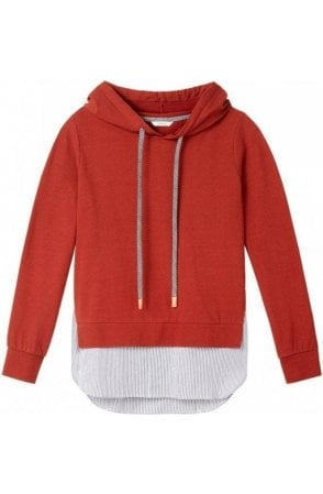 Layered Effect Hooded Sweatshirt
