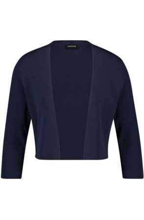 Navy Fine Knit Jacket