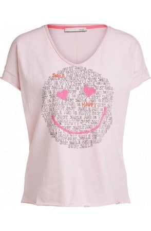 Pink Smiley Face T-Shirt
