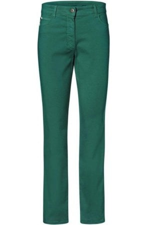 Green Mona Slim Leg Trousers
