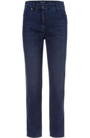 Dark Denim Mona Straight Leg Jeans
