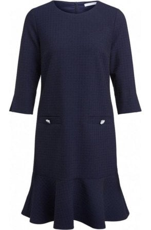 Navy Check Dress