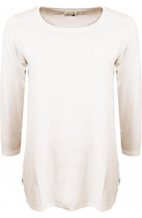 Cilla Cream Jersey Top