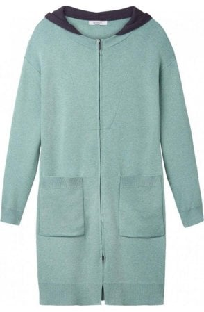Granite Green Long Line Cardigan