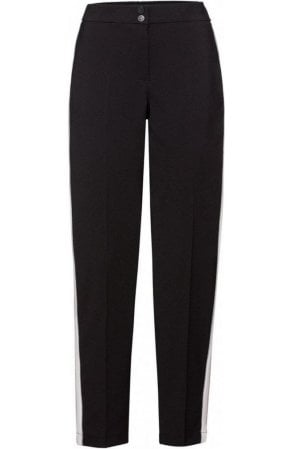Black Stripe Detailed Trousers