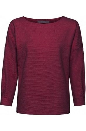 Burgundy Embossed Top