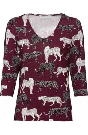 Animal Design Jersey Top