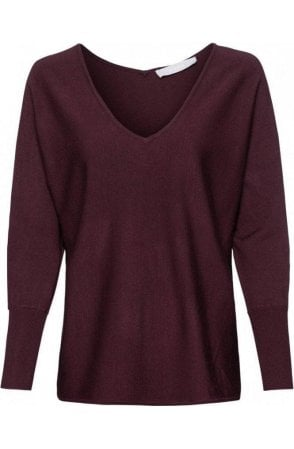 Burgundy Fine Knit Jumper