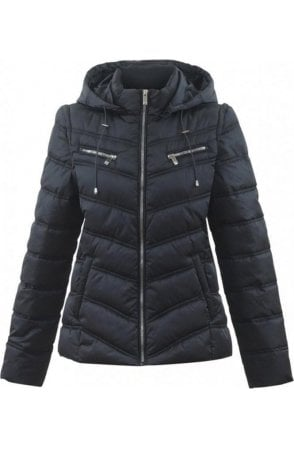 Black 2in1 Quilted Coat
