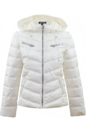 White 2in1 Quilted Coat