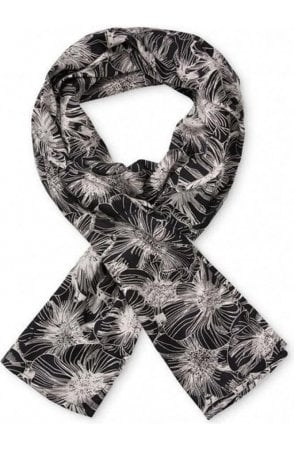 Black patterned Along scarf