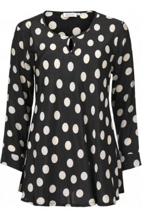 Danita black spotted top