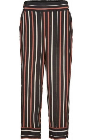 Petrina red ochre striped culottes