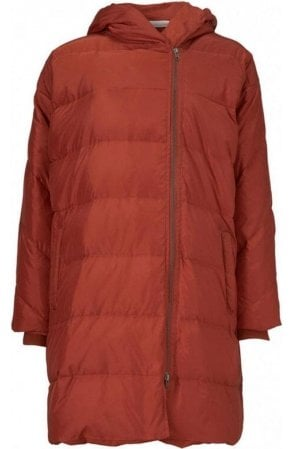 Red Ochre Tuala quilted  coat
