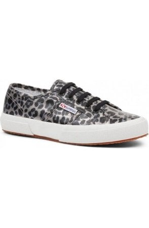 Superga Gunmetal leopard Trainers