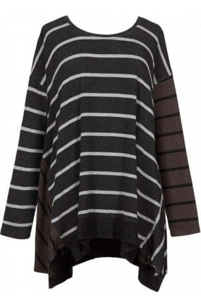 Iron Oversized Striped Top