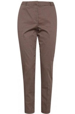 Patterned Slim Leg Trousers
