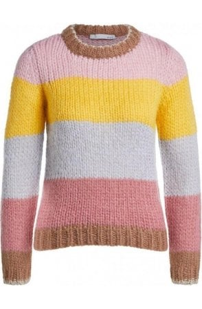 Chunky Knit Colour Block Jumper