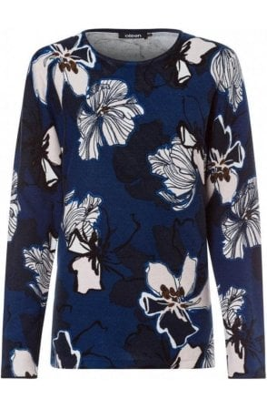 Blue Steel Floral Jumper