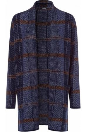 Blue Steel Check Design Cardigan