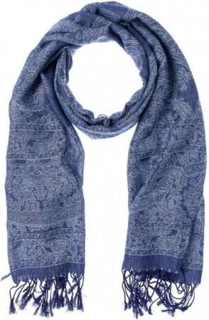 Blue Steel Patterned Scarf