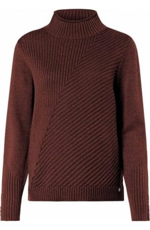 Hazelnut Ribbed Knit Jumper