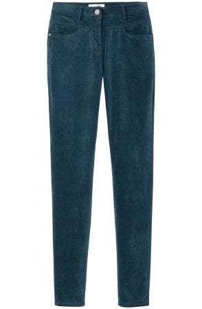 Deep Lagoon Velvet Trousers