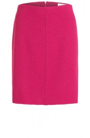 Pink Boiled Wool Skirt