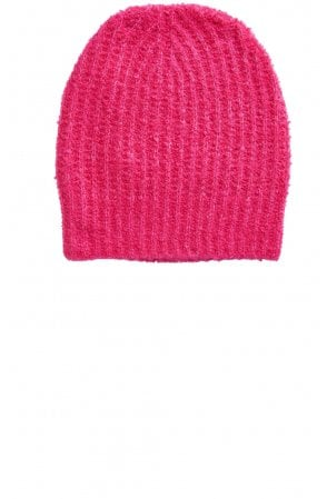 Pink Ribbed Knit Hat