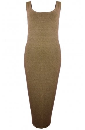 Nancy Olive Jersey Midi Dress