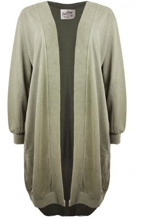 Olive Jersey cardigan