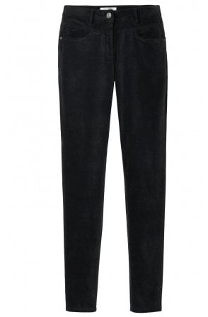 Black Fine Velvet Trousers