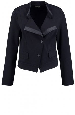 Black Jersey Tailored Jacket