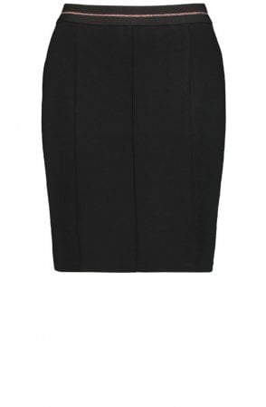 Black Fitted Jersey Skirt
